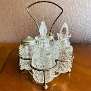 Vintage Glass Cruet Set